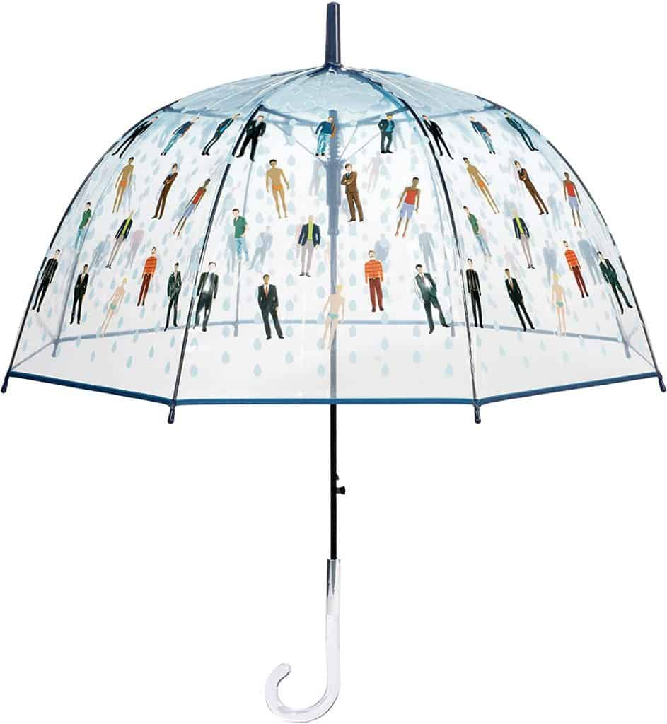 creative white elephant gift ideas: reaining men umbrella