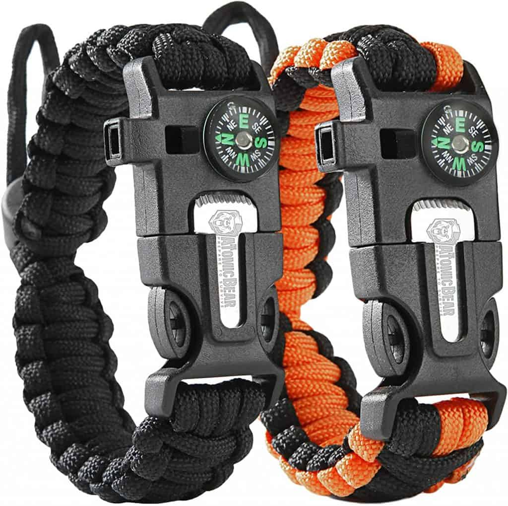 camper gift ideas: survival paracord bracelet