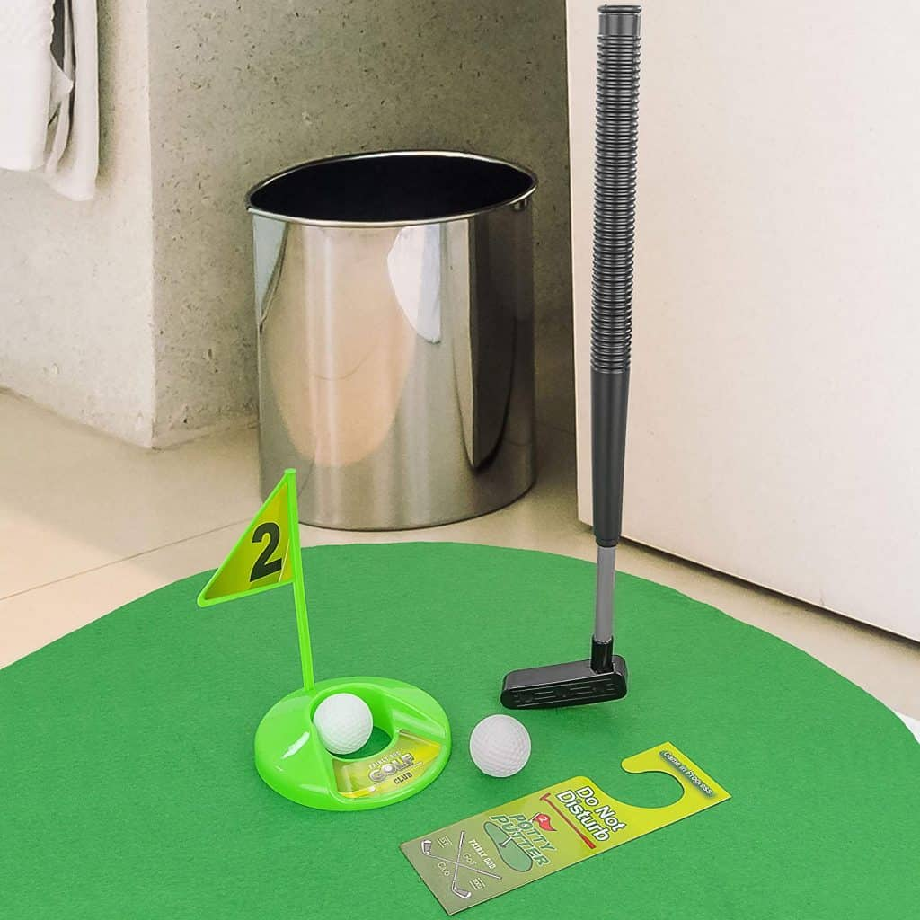 gag gifts for christmas exchange: potty putter toilet time golf game