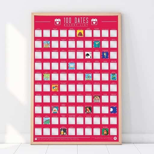 100 Dates Scratch Poster - thing to buy your girlfriend