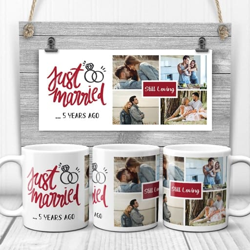 Anniversary Photo Collage Mug - anniversary gifts for sister in law