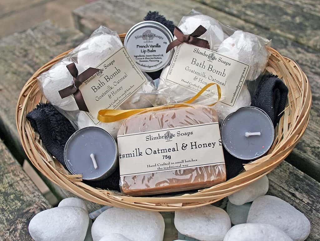 health and beauty gift baskets: Bath Time Pamper Basket