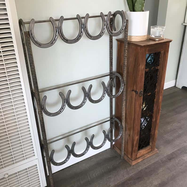 Boot Rack Horseshoe - Equine gifts