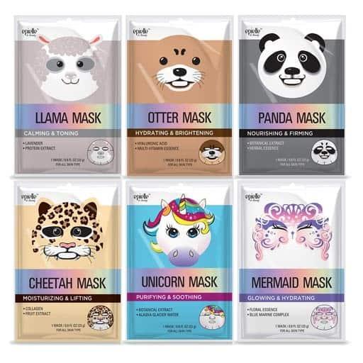 Character Sheet Masks - girlfriend gift ideas