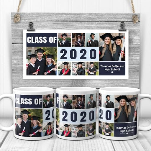 Class Of 2020 Graduation Collage Mug - college graduation gifts for her