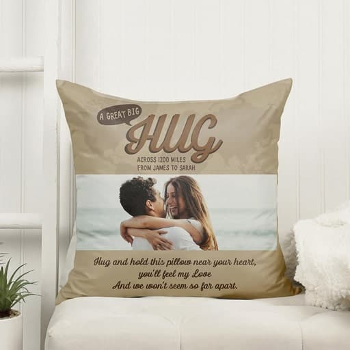 Custom Photo Pillow - just because gift for her
