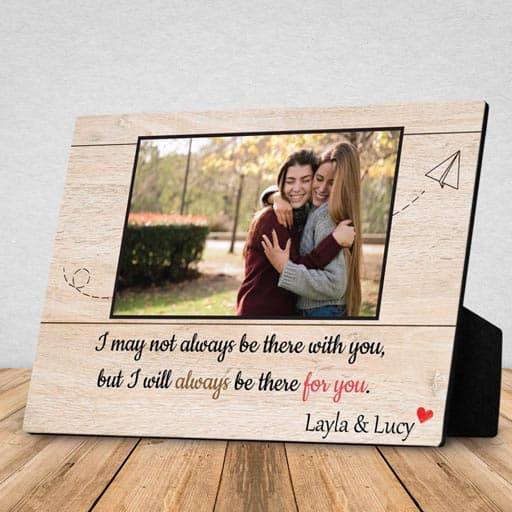Desktop Photo Plaque - going away gifts