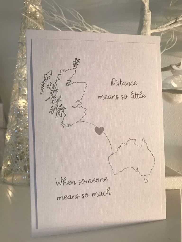 Distance Means So Little When Someone Means So Much Card