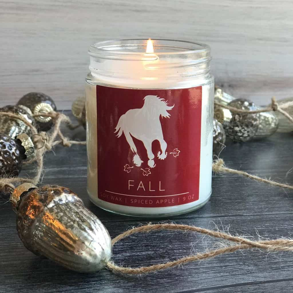 Equestrian Candle - gifts for horse lovers