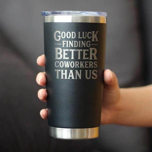 Good Luck Tumbler - office farewell gift