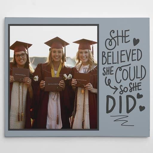 Graduation Custom Photo Canvas - nurse graduation gift idea