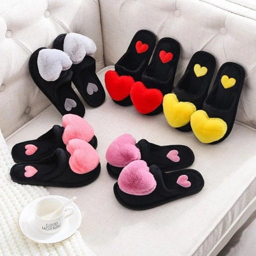 Heart Bedroom Slippers - gift for your love