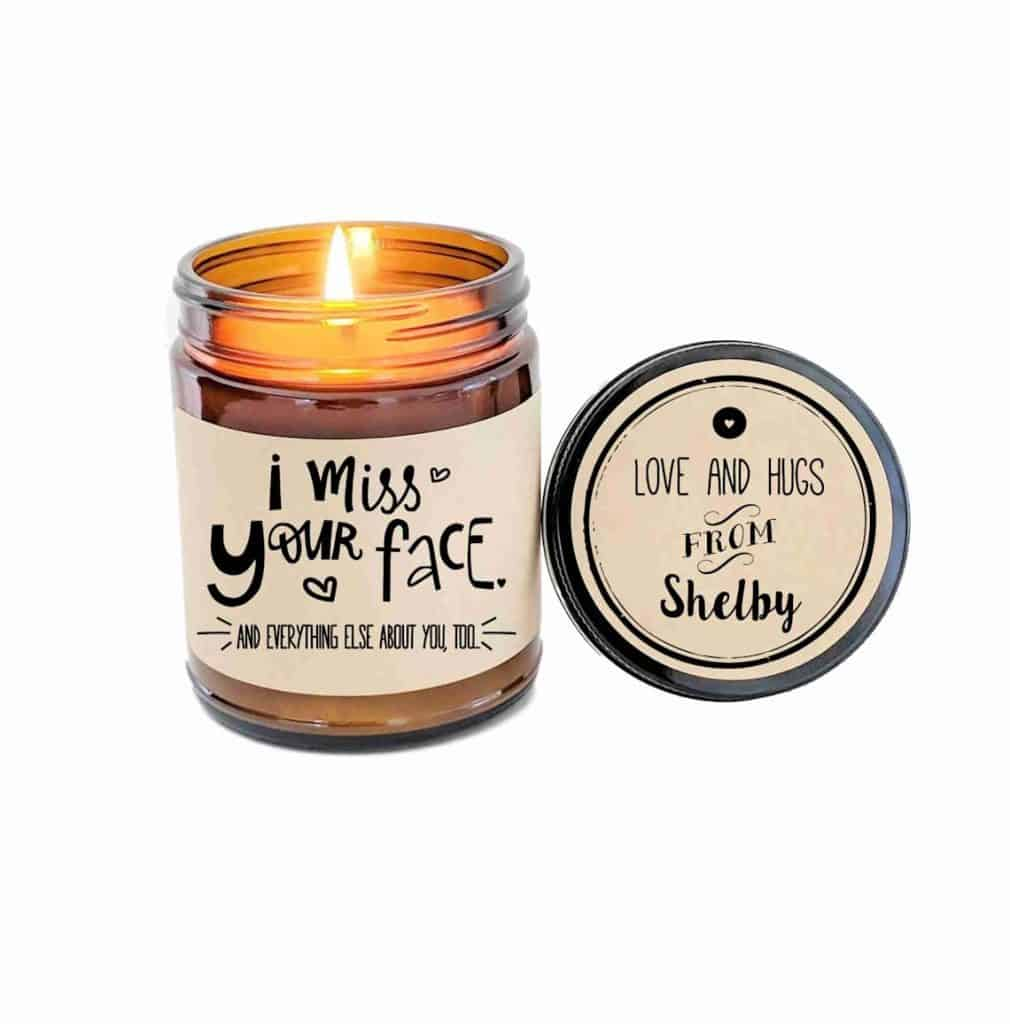 I Miss Your Face Candle LDR Gift