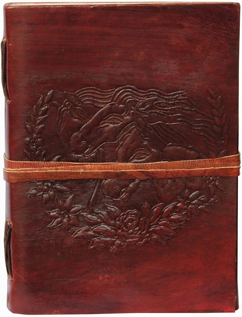 Leather notebook - equestrian gifts
