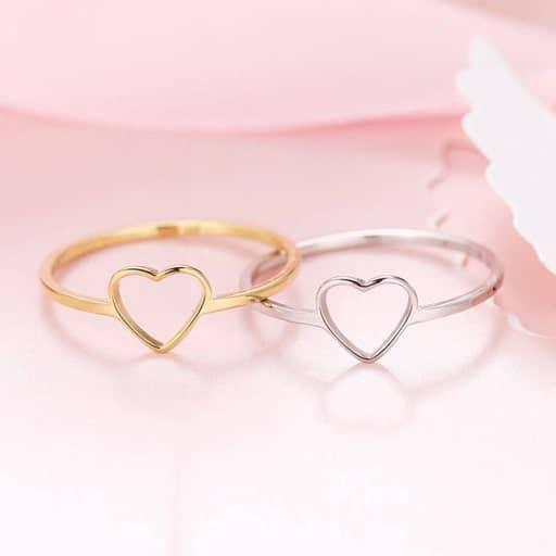Love Heart Ring - romantic gift for her