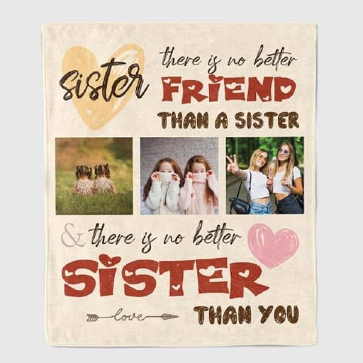 No Better Friend Than A Sister Blanket - sister in law gift