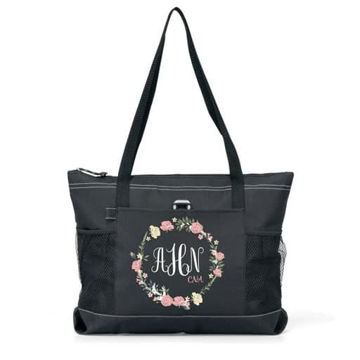 gifts for nursing students - Nurse Monogram Tote Bag