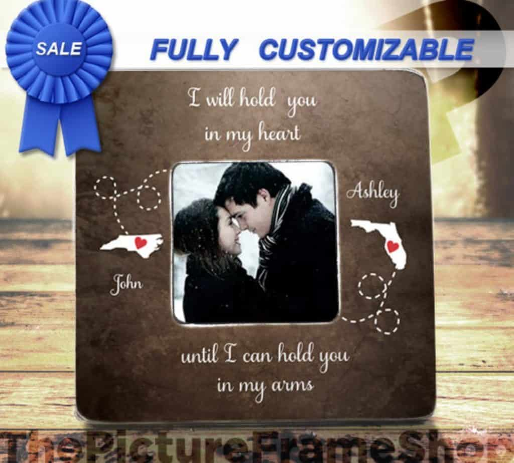 ideas for long distance relationships: Personalized Picture Frame