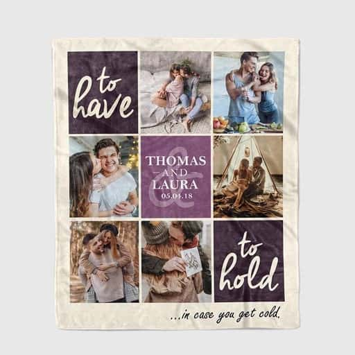 Photo Collage Blanket - gifts for girlfriend