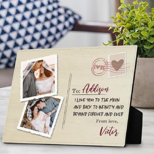 Photo Desktop Plaque - girlfriend's gift