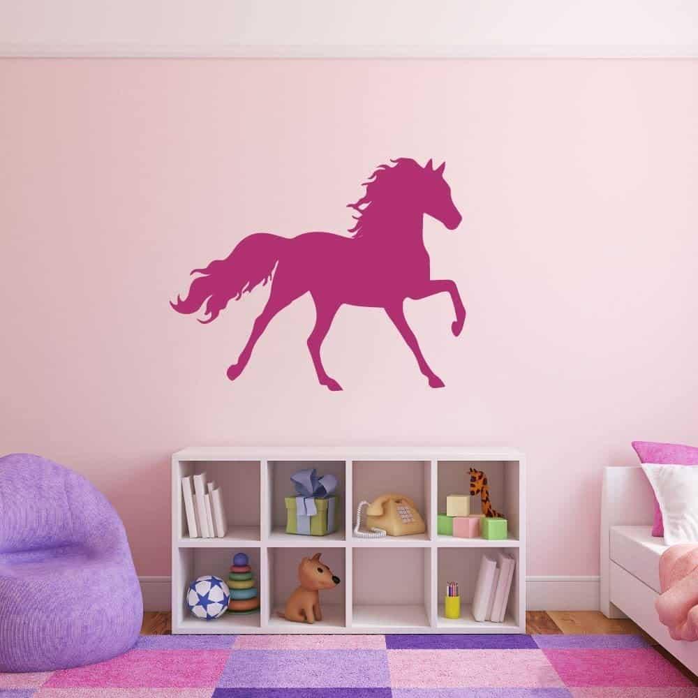 Pink Prancing Horse Vinyl - gifts horse lovers