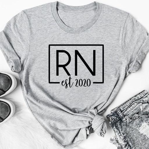 gifts for nursing students - RN Nurse Shirt