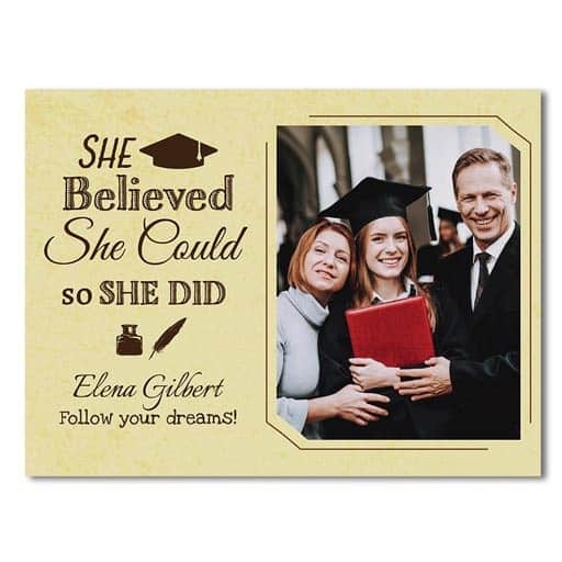 She Believed She Could So She Did Canvas - best graduation gifts for her
