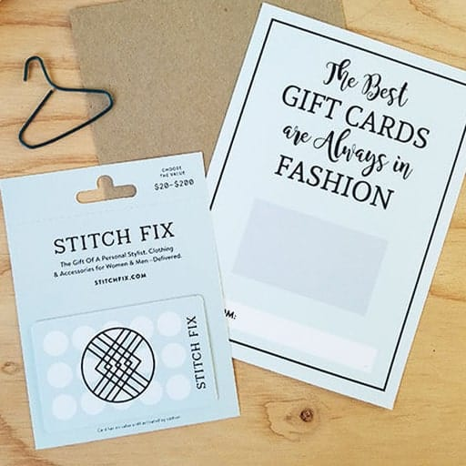 Stitch Fix Gift Card - thoughtful college graduation gifts