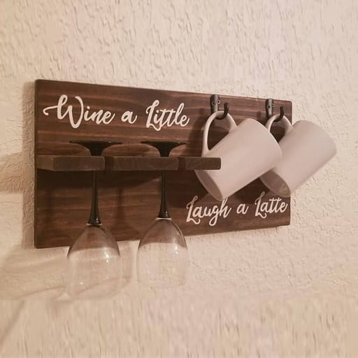 Wine Glass Holder - college graduation gifts
