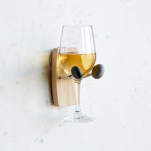 best gifts for wine lovers: bathtime essentials wine holder
