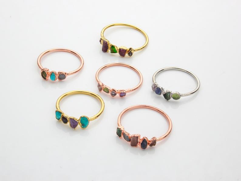 luxury birthday gift ideas for wife: custom birthstone ring