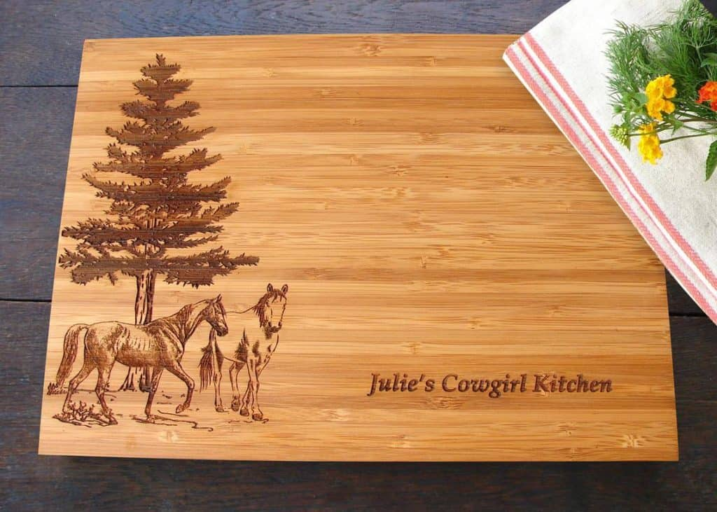 cutting board - gifts for horse lovers