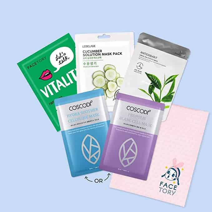 top gifts for wife: sheet mask subscription box