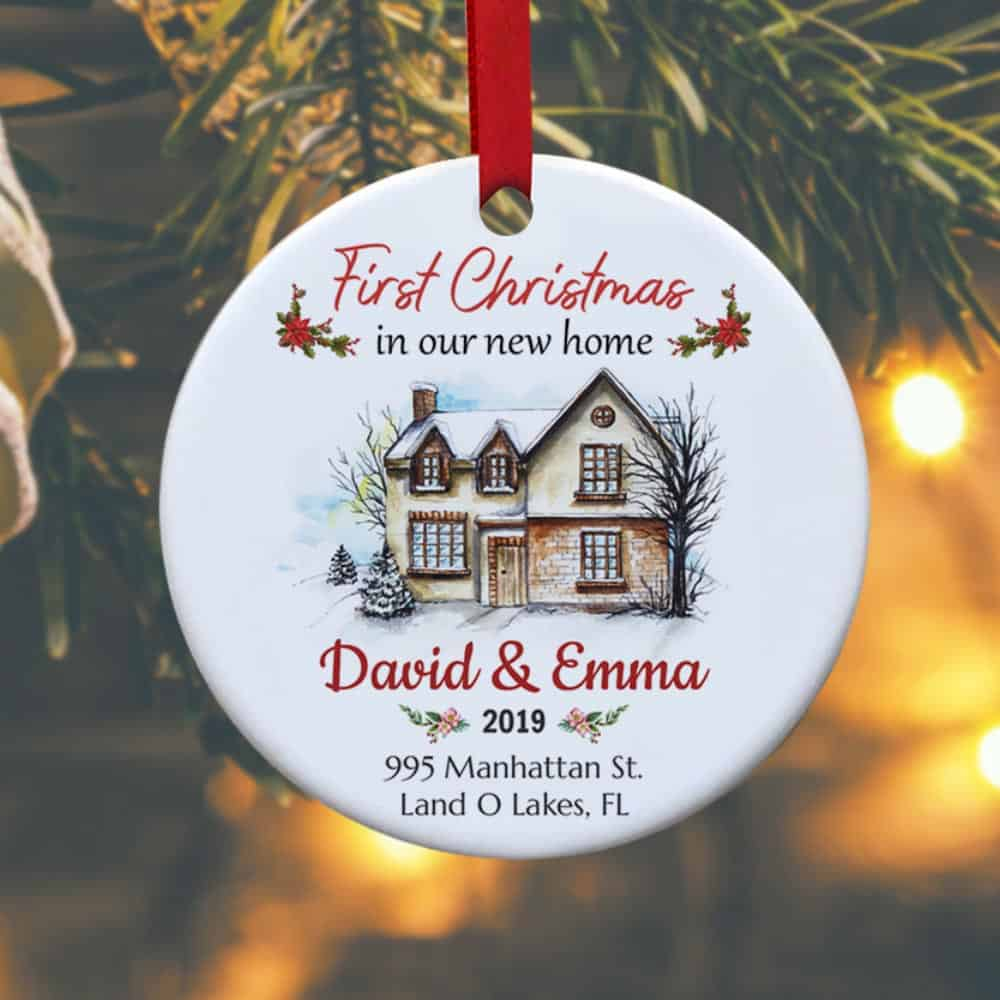 First Christmas In Our New Home Personalized Ornament