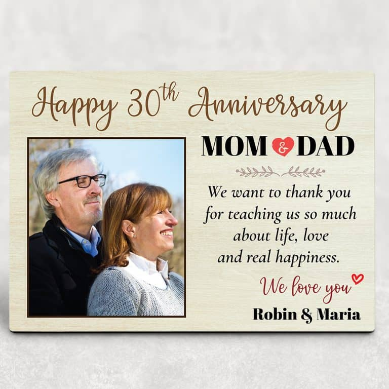 happy 30th anniversary for parent