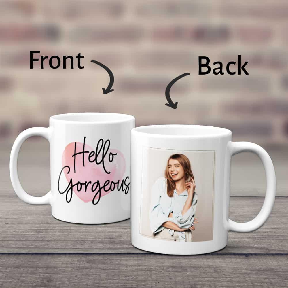 gifts for the woman who has everything: custom photo mug