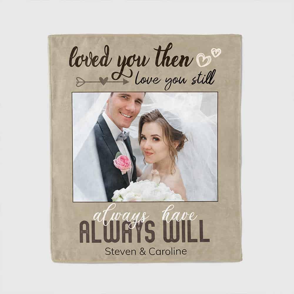 wedding gifts for wife: photo blanket custom