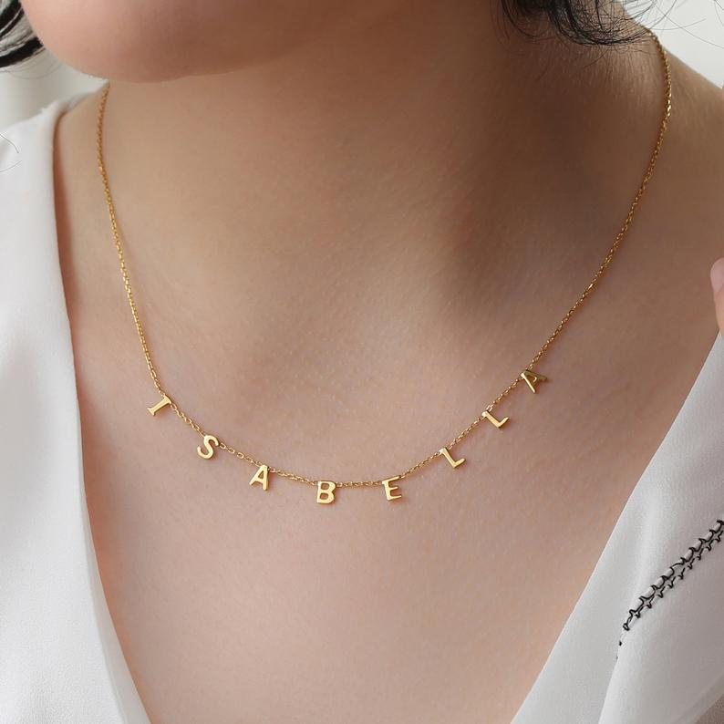 mothers day gifts for wife: name necklace