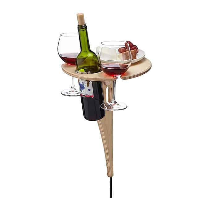 gifts for wine lovers: outdoor wine table