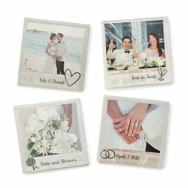 best anniversary gifts for wife: photo coasters