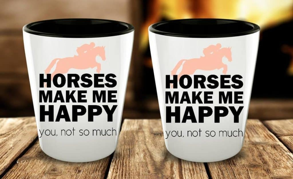 Shot glass - gifts for horse racing lovers
