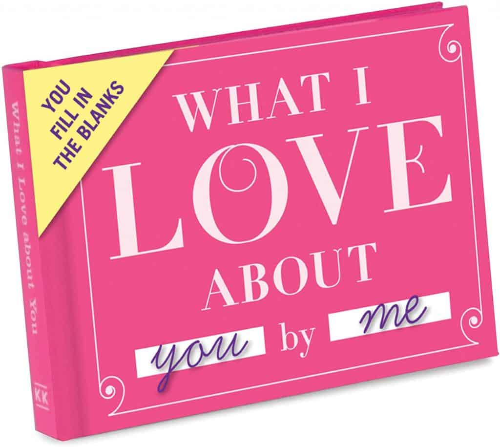 romantic gifts for wife: knock knock what i love about you