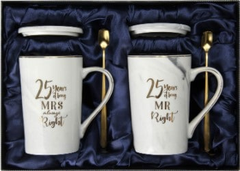 25th Wedding Anniversary Gifts - coffee mug