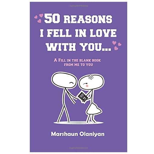 50 Reasons I Fell In Love With You - cheap valentine gifts for him