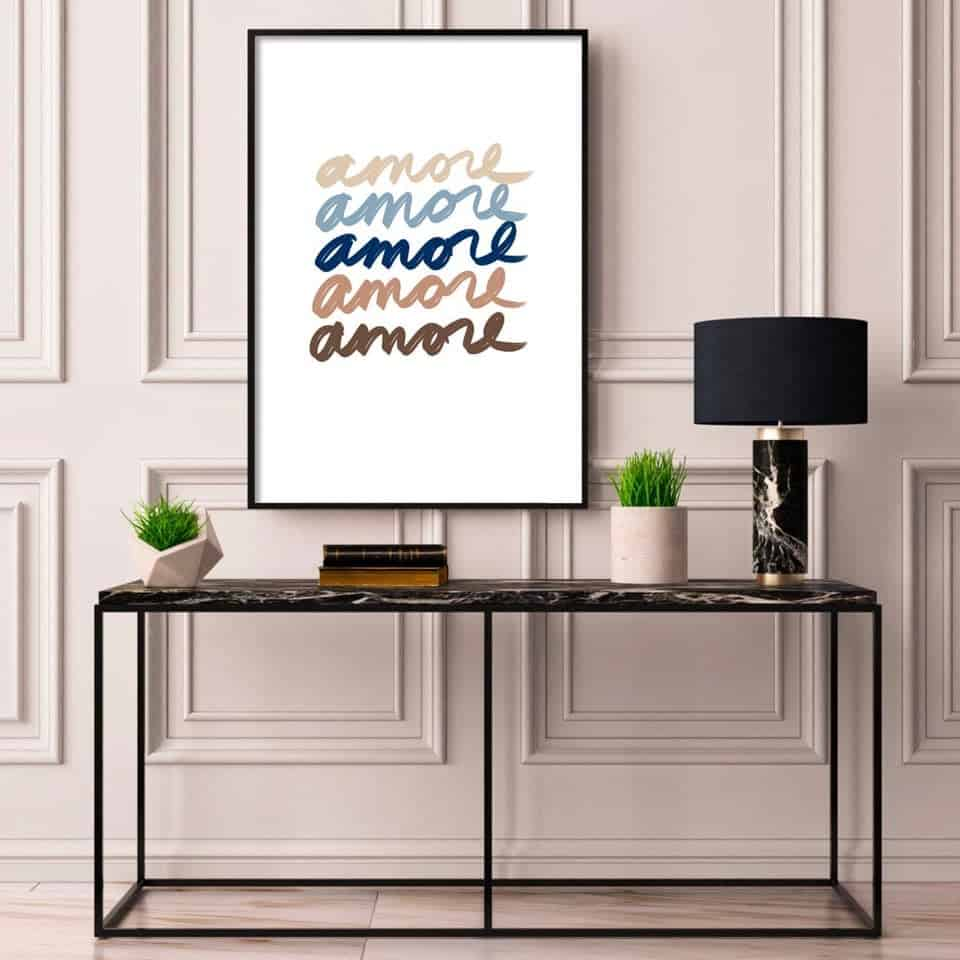 AMORE Wall Print - valentine's day gifts