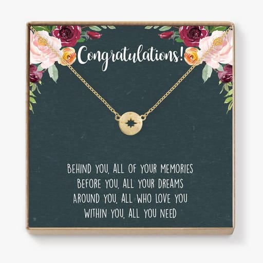 Compass Necklace - high school graduation gift ideas