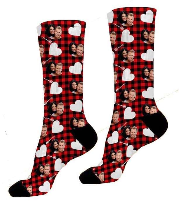 Custom Valentine Plaid Socks For Boyfriend