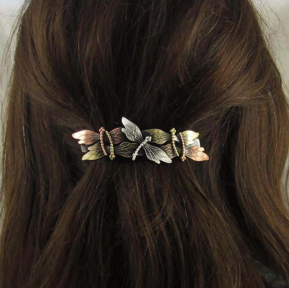 DRAGONFLY FRENCH BARRETTE
