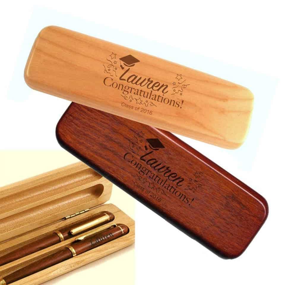 Engraved Wood Pen Set - graduation presents for her