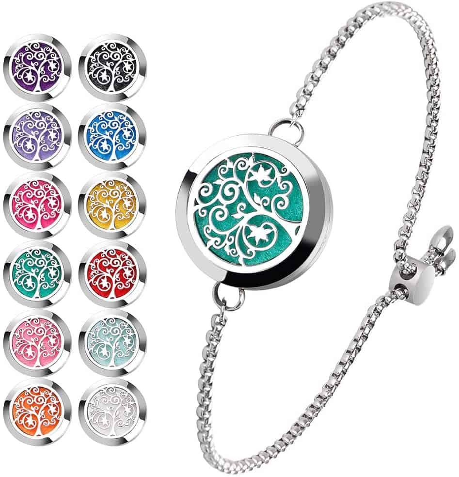 Essential Oil Diffuser Bracelet Stainless Steel Aromatherapy Locket